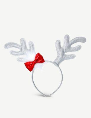 GISELA GRAHAM レインディアー アントラーズ アンド バウ headband and antlers ヘッドバンド 上等 Reindeer bow 期間限定で特別価格