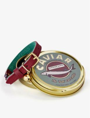 特売 CHESHIRE WAIN ティーサー キャビア レザー キャット カラー leather Caviar 直営店 cat collar Tsar