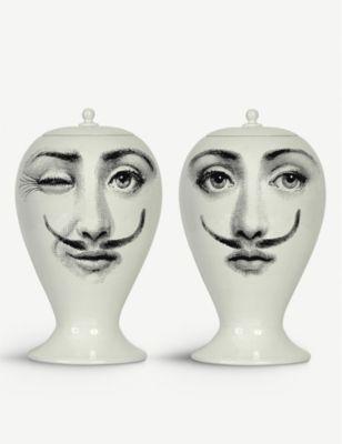FORNASETTI ムスタッシュ ポーセレイン ベース 15cm Moustache porcelain vase 15cm