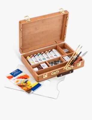 最新 CASS ART ウィンザー アンド ニュートン アーティスツ カラー バンブー ウッデン ボックス Artists' 内祝い bamboo Newton Oil box Colour wooden Winsor セット set