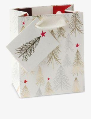 CAROLINE GARDNER 安全 ツリー ペーパー ギフト 国内在庫 バッグ paper gift bag Trees 23cm