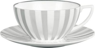 予約販売品 JASPER CONRAN @ WEDGWOOD プラチナム ストライプ ファインボーンチャイナ ティーカップ 13cm teacup デポー china Striped x Platinum x11cm 11cm fine bone