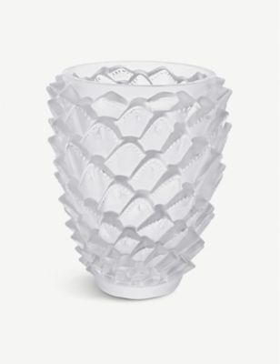 LALIQUE アゲイブ クリスタル ベース 30cm vase #Clear crystal Agave 希望者のみラッピング無料 お値打ち価格で