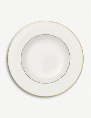 VILLEROY BOCH アンマット ゴールド ディープ 数量は多 プレート Gold plate オーバーのアイテム取扱☆ deep 24cm Anmut #WHITE