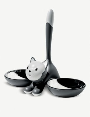 ALESSI ティグリット ステンレススチール キャット ボウル ◇限定Special Price 28cm Tigrito Seasonal Wrap入荷 cat bowl stainless-steel #GREY