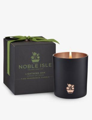 現金特価 NOBLE ISLE ライトニング オーク センテッドキャンドル Lightning 定価 200g Oak candle scented