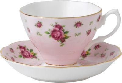 ROYAL ALBERT ニューカントリーローズ ピンク ティーカップ アンド 品質保証 ソーサー ギフ_包装 saucer and Roses New Country Pink teacup
