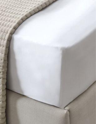 THE WHITE COMPANY コナウト 送料無料 一部地域を除く コットン アンド シルクブレンド キング ディープ フィット fitted #CHALK king cotton sheet Connaught シート and 特価キャンペーン silk-blend deep