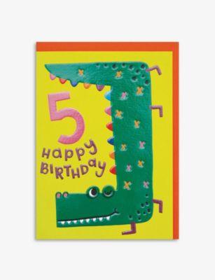 RASPBERRY BLOSSOM ハッピー 5th バースデー グリーティングカード 信用 17.2cm Happy Birthday greetings x card 12.5cm 新品未使用正規品