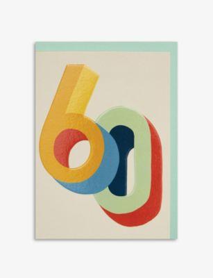 RASPBERRY BLOSSOM 使い勝手の良い 60歳 バースデー グリーティングカード 期間限定送料無料 12.5cm x17.2cm Birthday greetings 60th x card 17.2cm