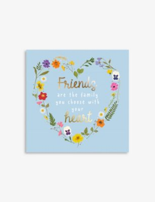 CENTRAL 23 フレンズアーザファミリーユーチューズ グリーティングカード 14.5cm x Friends ファクトリーアウトレット 新品 The greetings Are Family You card Choose