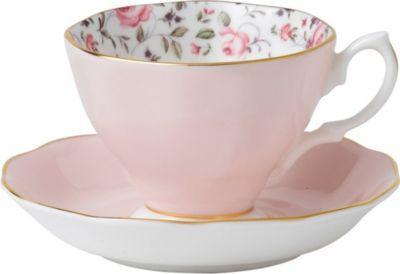 ROYAL 本物◆ ALBERT ローズ コンフェッティー ビンテージ ティーカップ アンド Confetti saucer Rose ソーサー teacup 特売 and Vintage