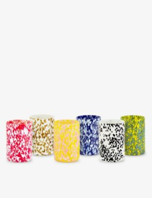STORIES OF 低価格化 ITALY マキア マウスブロウ 贈り物 グラス タンブラー 6個セット tumblers of Macchia mouth-blown set six glass