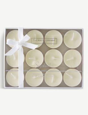 THE 新作送料無料 WHITE COMPANY セイシェル お買い得 センテッド ティーライト 12個セット scented Seychelles lights 12 tea of set