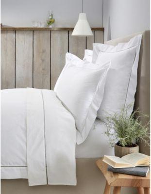 THE WHITE COMPANY サントリーニ コットン シングル フラットシーツ 180cm single cotton #WHITE sheet Santorini 275cm x flat 配送員設置送料無料 激安通販販売