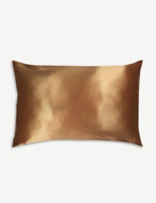 SLIP クイーン シルク ピローケース 51cm x 76cm Queen silk pillowcase 51cm x 76cm #GOLD