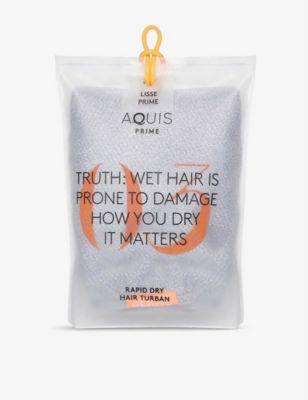 特売 AQUIS リッセリュクス ヘアタオル 定番から日本未入荷 50cm x 107cm Lisse Luxe BERRY towel #CLOUDY hair