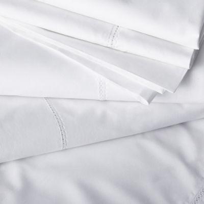 舗 THE WHITE COMPANY キャベンディッシュ コットン ダブル フラットシーツ 230cm #WHITE flat x 275cm cotton sheet double Cavendish 安心と信頼