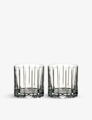 RIEDEL ドリンク スペシャル グラスウェア 2個セット クリスタル ロック グラス 大放出セール Drinks glasses crystal Glassware set two rocks Specific of 訳あり商品