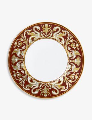 WEDGWOOD ルネッサンス レッド チャイナ 迅速な対応で商品をお届け致します プレート china 18%OFF 23cm Red Renaissance plate