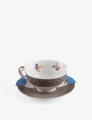 SELETTI ハイブリッド ケルマ ポーセレイン ティーカップ アンド ソーサー teacup saucer porcelain and Hybrid Kerma ●手数料無料!! バーゲンセール