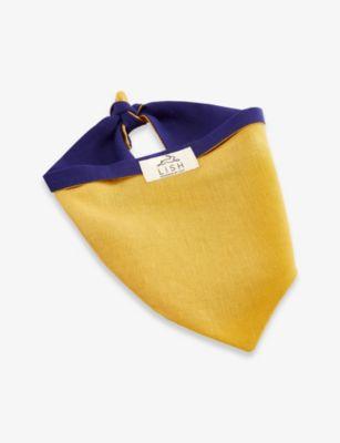 LISH ディブデン スモール リネン ドッグ スカーフ dog small linen scarf 安心の実績 高価 買取 強化中 Dibden #YELLOW 売り出し