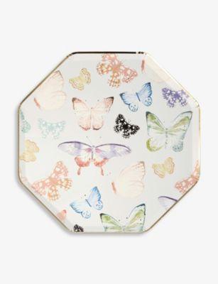 MERI バタフライ エコフレンドリー ペーパー プレート 8枚パック 公式ストア 26cmx 26cm eco-friendly 税込 Butterfly x of plates eight pack paper