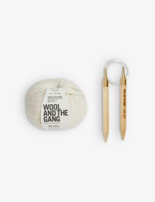 WOOL AND THE GANG ハッピー デイズ 期間限定送料無料 ウール ビーニーニッティング Happy #IVORY beanie-knitting wool kit Daze キット スーパーセール期間限定