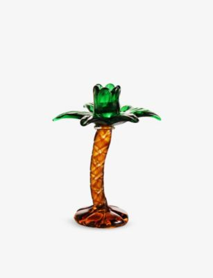 KLEVERING パーム ツリー シェイプ 気質アップ グラス キャンドルホルダー Palm 15cm holder メーカー公式 candle glass tree-shaped