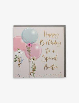 BELLY BUTTON DESIGNS ハッピーバースデー ブランド激安セール会場 トゥ ア スペシャル アンティー グリーティングカード Happy Special 21x21cm a Birthday card Auntie お見舞い to greetings
