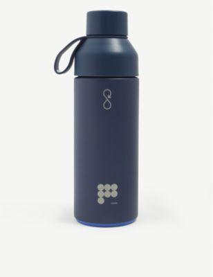 PANGAIA オーシャン 爆安 ボトル x パンガイア テキストプリント リサイクル ステンレススチール アンド Ocean 500ml Pangaia ストアー オーシャンボンド Bottle plastic #NAVY bottle プラスティック