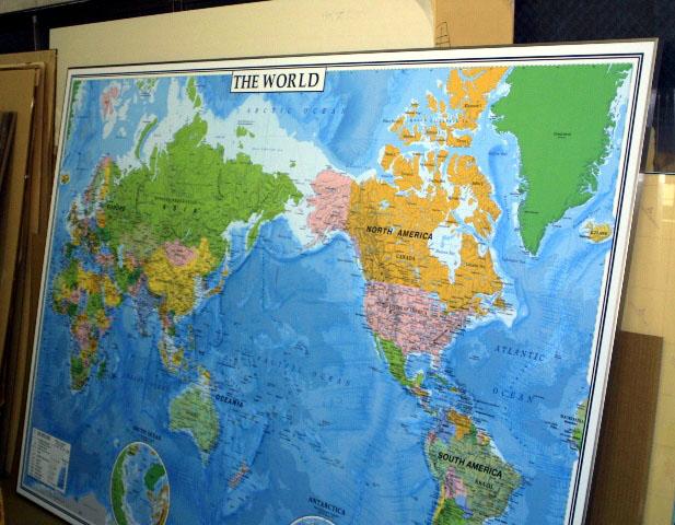 中判 THE WORLD(英語版世界地図) パネル