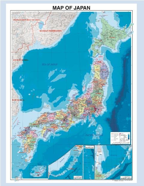 楽天市場 表面ラミネート加工 MAP OF JAPAN 英語表記の日本