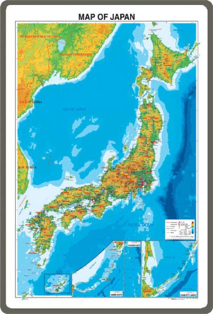 MAP OF JAPAN(英語表記の日本地図) ホワイトボード(小サイズ)