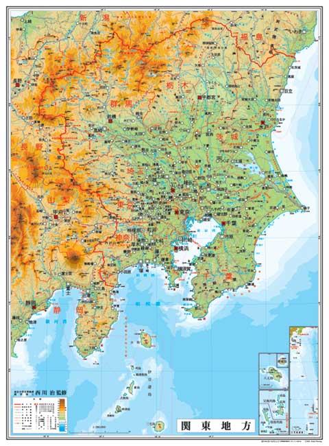 小判 関東地方図(表面PP加工)