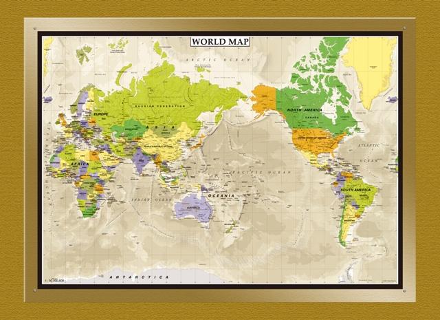 アクリル「WORLD MAP 」2