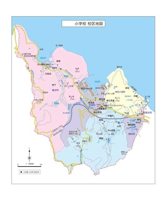 特注 地域(校区)地図 マグネットシート(中)地図データ(CD-ROM)付