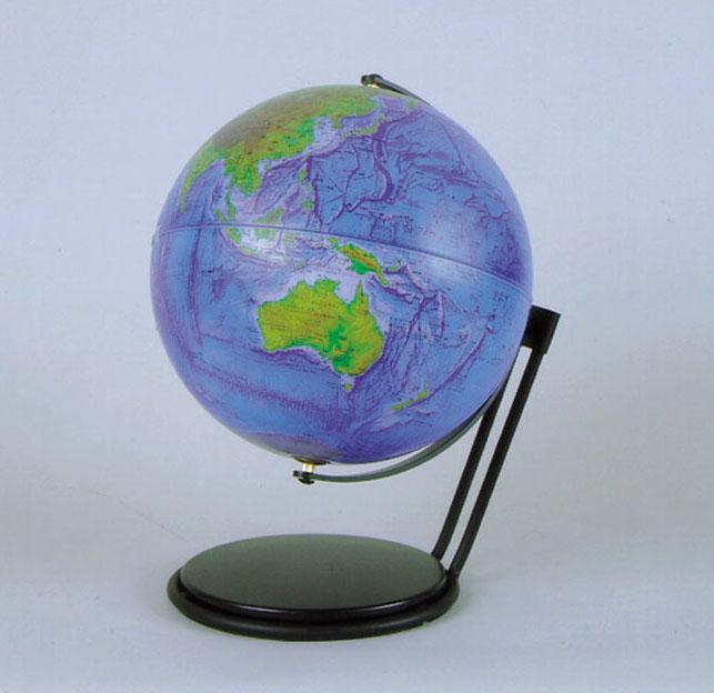 アクリル地球儀30cm地勢