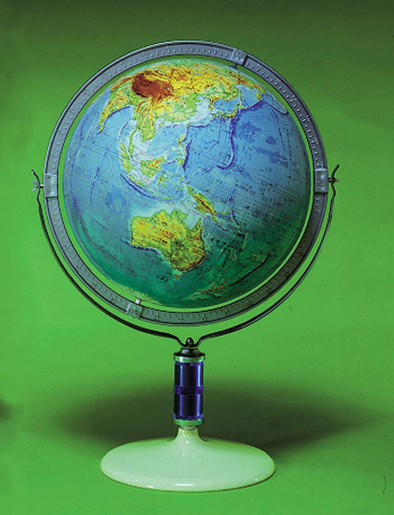 直径43cm英語併記地球儀(地勢)