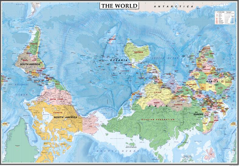 中判 逆さTHE WORLD(表面PP加工)