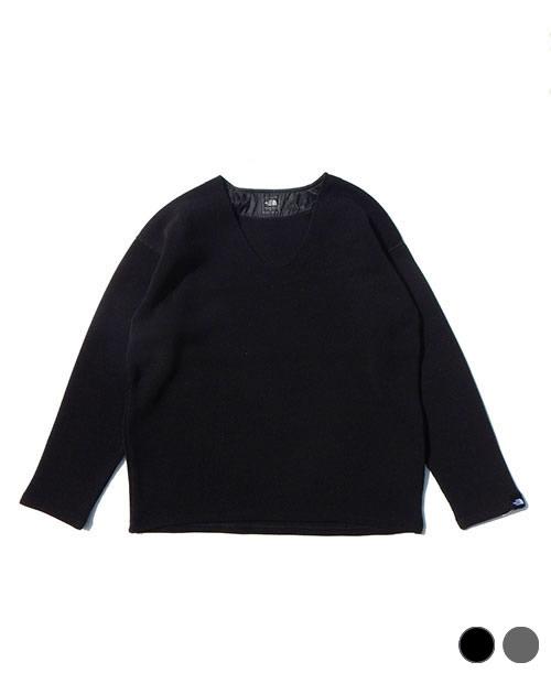 《THE NORTH FACE・ウィメンズ》ザ・ノースフェイスエクスプローラーテックセーターVネック(NTW61863)K・Z色(S/M/Lサイズ)【送料無料】※ポリエステル素材の、新しい感覚のセーター。