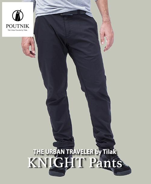 《POUTNIK(Tilak)・メンズ》ポートニック(ティラック)KNIGHT Pants(ナイト パンツ)ブラック色(XS/S/M/L/XLサイズ)【送料無料】超快適な4wayストレッチタイトパンツ 。
