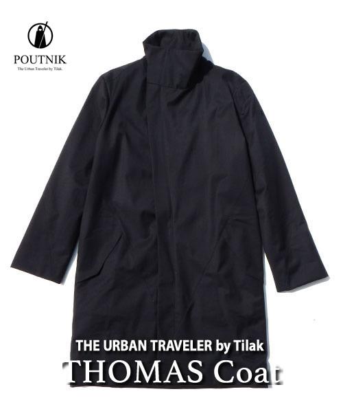 2018F/W予約商品【代引不可】《POUTNIK(Tilak)・メンズ》ポートニック(ティラック)THOMAS Coat(トーマスコート)ブラック色(XS/S/Mサイズ)11月下旬のお届け予定【送料無料】高めの襟元が特徴の中綿コート。