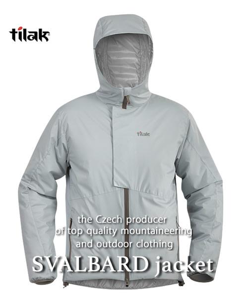 《Tilak・メンズ》ティラックSVALBARD Jacket(スバルバードジャケット)シルバー色(XS/S/M/Lサイズ)【送料無料】※撥水性の高い中綿ダウンジャケット。