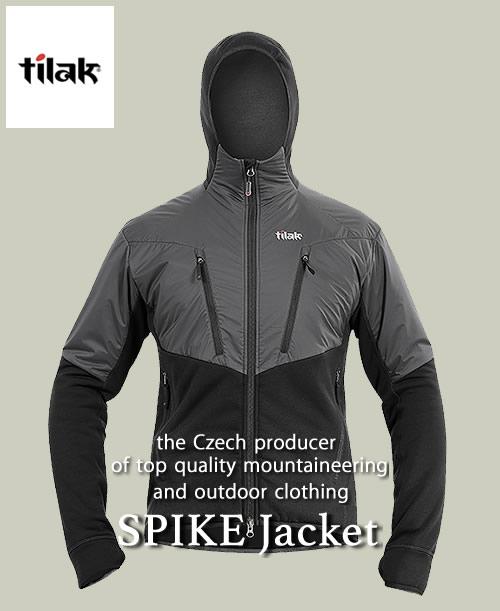 2018F/W予約商品【代引不可】《Tilak・メンズ》ティラックSPIKE Jacket(スパイクジャケット)ブラック色(S/M/Lサイズ)【送料無料】11月下旬のお届け予定※快適な状態に保つフリース。