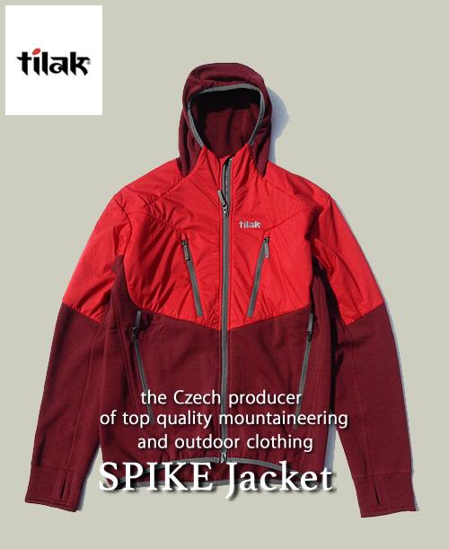 《Tilak・メンズ》ティラックSPIKE Jacket(スパイクジャケット)ジンファンデル/チリレッド色(S/M/Lサイズ)【送料無料】※快適な状態に保つフリース。