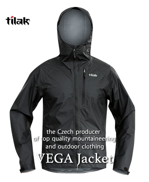 2018F/W予約商品【代引不可】《Tilak・メンズ》ティラックVEGA Jacket(ベガジャケット)キャビアブラック色(XS/S/M/Lサイズ)【送料無料】11月下旬のお届け予定※撥水性・防風性のの高いナイロンジャケット。