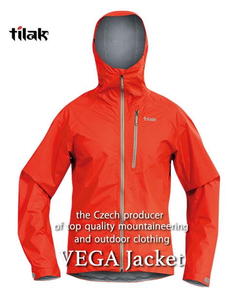 2018F/W予約商品【代引不可】《Tilak・メンズ》ティラックVEGA Jacket(ベガジャケット)レッド色(XS/S/M/Lサイズ)【送料無料】11月下旬のお届け予定※撥水性・防風性のの高いナイロンジャケット。
