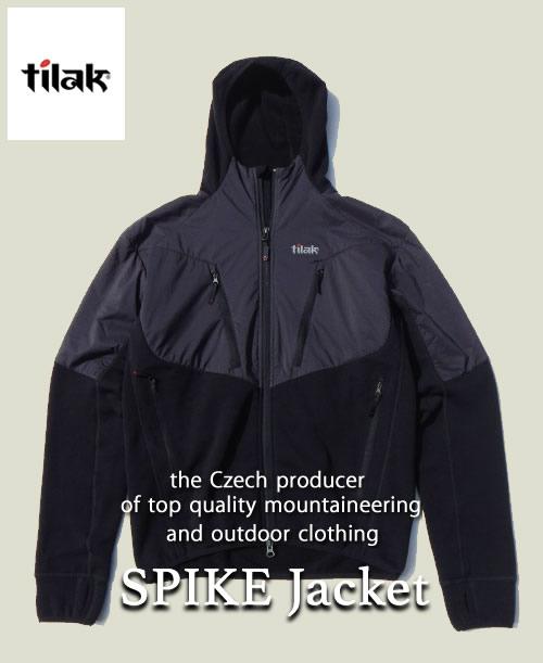 《Tilak・メンズ》ティラックSPIKE Jacket(スパイクジャケット)ブラック色(S/M/Lサイズ)【送料無料】※快適な状態に保つフリース。