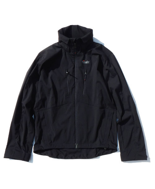 《Tilak・メンズ》ティラックLATOK LT Jacket(ラトック LT ジャケット)ブラック色(XS/S/M/Lサイズ)【送料無料】※フロントフルジップのライトフードジャケット。